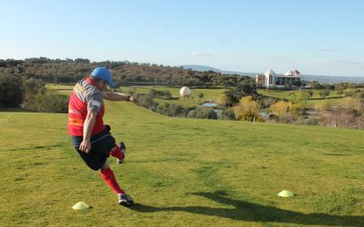 "Fifty players compete in the ""Open de Andalucía Footgolf"" held in Antequera Golf"