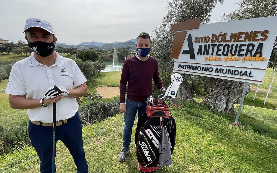 El Sitio de los Dólmenes se promociona también en el Campo de Golf de Antequera aprovechando la visita de más de 15.000 jugadores al año a dichas instalaciones
